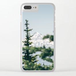 Mount Hood XVI Clear iPhone Case