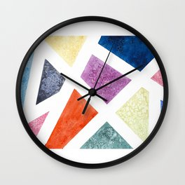 A Pane In The Color Wheel Wall Clock
