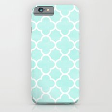 MOROCCAN {TEAL & WHITE 2} Slim Case iPhone 6s