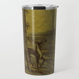 Bamboo Forest in Gold and Burnt Umber Travel Mug