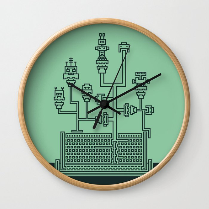 Planticular Robotic Wall Clock