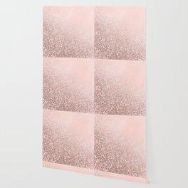 Rose Gold Sparkles on Pretty Blush Pink VI Wallpaper