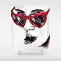 lolita Shower Curtains featuring Lolita  by Bella Harris