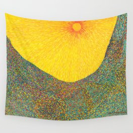 Here Comes the Sun - Van Gogh impressionist abstract Wall Tapestry
