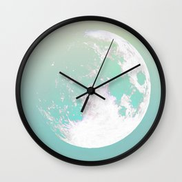 soft moon. space Wall Clock