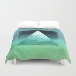 Triangle Composition X Duvet Cover