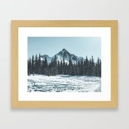 Bow Summit, Alberta, Canada Framed Art Print