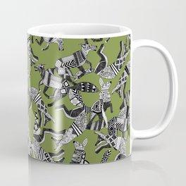 woodland fox party green Coffee Mug