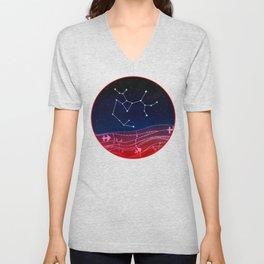 Sagittarius Zodiac Constellation Design Unisex V-Neck
