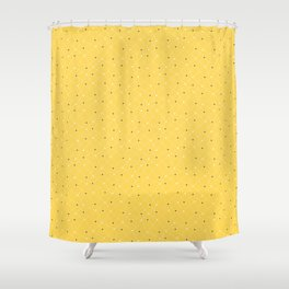 Chemistry Class Doodles - Yellow Shower Curtain