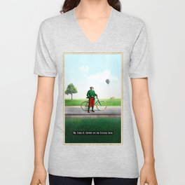 Mr Cyrus D. Chympe on the Cycling Trail Unisex V-Neck