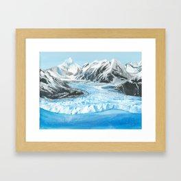 Alaska Glacier Landscpae Art Framed Art Print