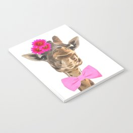 Giraffe funny animal illustration Notebook