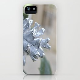 Silver Pinecone iPhone Case
