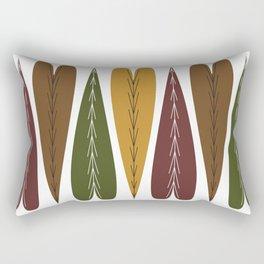 Evergreen Autumn Hearts Rectangular Pillow