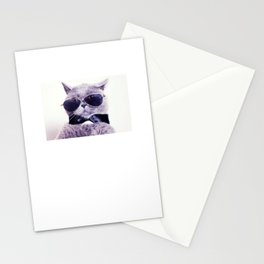 Check Meowt Funny Graphic Cat T-shirt Stationery Cards