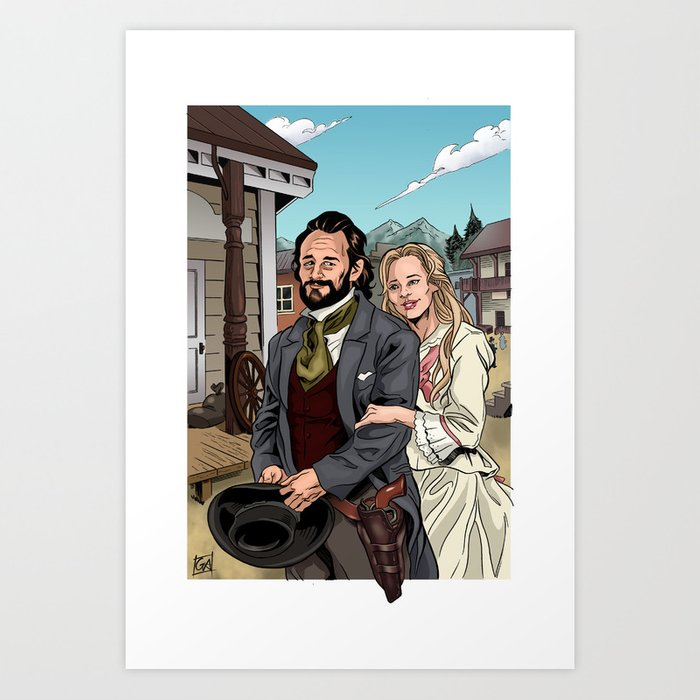 John & Callie Art Print