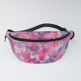 Painted red flowerbed Fanny Pack
