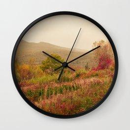 Wandering Through Autumn Wall Clock