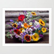 POP floral still life Art Print