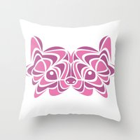 pomeranian Throw Pillows featuring Pomeranian by anglia