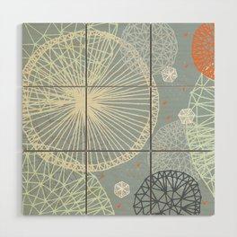 Geodesic by Friztin Wood Wall Art