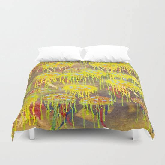 Polka Dot Jellyfish Duvet Cover