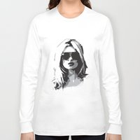 kate moss Long Sleeve T-shirts featuring Kate Moss by Joanna Theresa Heart