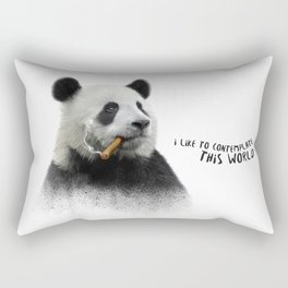 Panda contemplator Rectangular Pillow