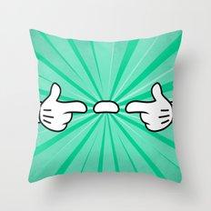 Floating Finger Sausage Throw Pillow