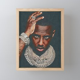 𝐇.𝕋.Ǥ.b.ㄚ. Heavy Truck Jewelry Iced Out Drip Diamond Chains Fabolous Rapper Framed Mini Art Print