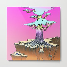 Acid Tree Metal Print