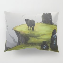 Ruins - green Pillow Sham