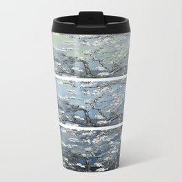 Vincent Van Gogh : Almond Blossoms Panel Art Blue Steel Teal Travel Mug