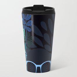 Afro Diva : Sophisticated Lady Teal Travel Mug