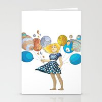 solar system Stationery Cards featuring Solar System by Owlsoul