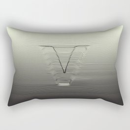 V for the Valley Rectangular Pillow