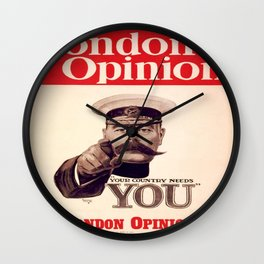 Vintage poster - Your Country Needs You Wall Clock