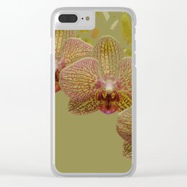 Orchid Spray Clear iPhone Case
