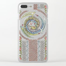 Celtic Dragons Clear iPhone Case
