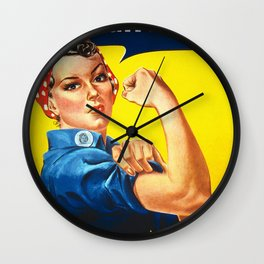 World War Two Propaganda Poster Wall Clock
