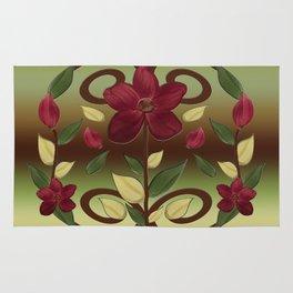 Scarlet Flora Rug