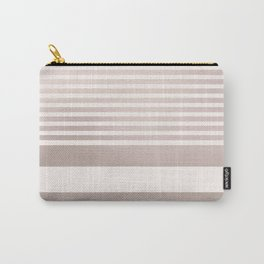 Rose Gold and Pink Stripes Mix Pattern Carry-All Pouch