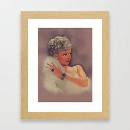 Joan Bennett, Vintage Actress Framed Art Print