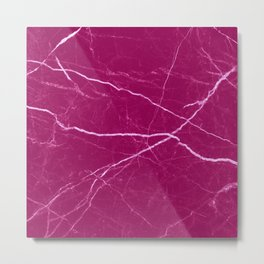 Magenta marble abstract texture pattern Metal Print