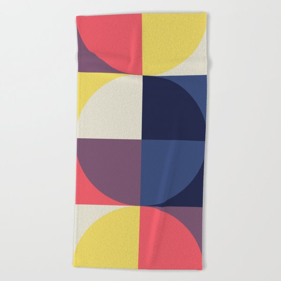Quarters Quilt 1 Beach Towel