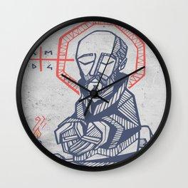 Saint Ignatius of Loyola hand drawn illustration Wall Clock