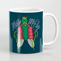 mcfly Mugs featuring Marty McFly by Chelsea Herrick