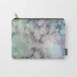Artistic Hydrangea flowers in soft blue and purple Carry-All Pouch