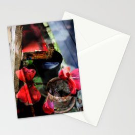 Potted Plant illusion Stationery Cards